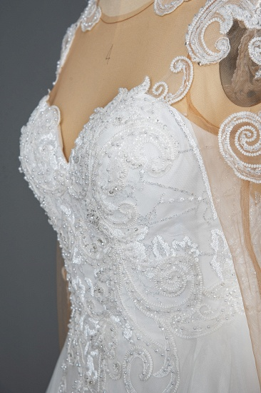 BMbridal Classic Long Sleeve Lace Bridal Gown Online_6