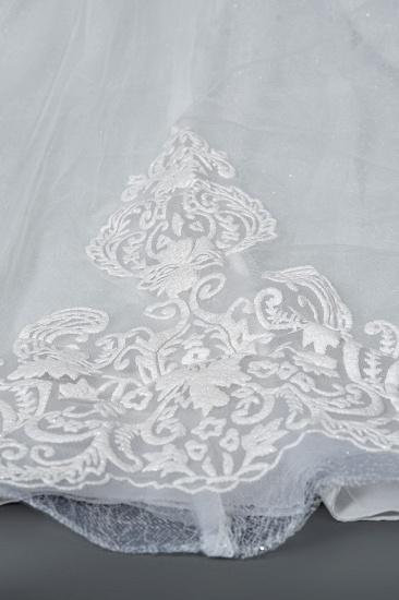 BMbridal Cap Sleeve Lace Wedding Dress Princess Bridal Gown Lace-up_8