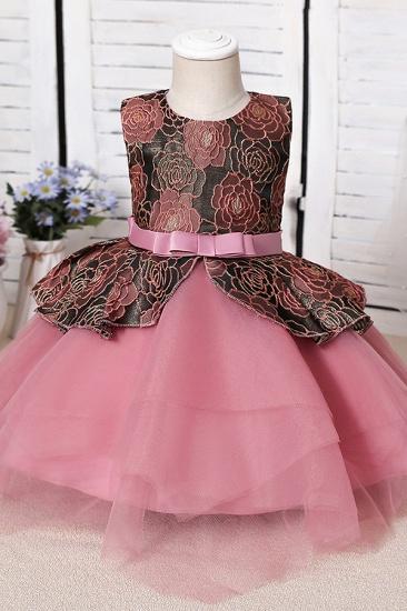 BMbridal Blue Mix Black Lace Flower Girl Dress_1