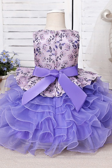 BMbridal Tulle Purple Lovely Flower Girl Dress_6