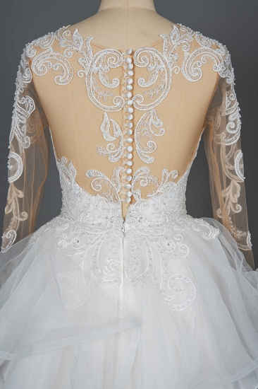 BMbridal Classic Long Sleeve Lace Bridal Gown Online_3