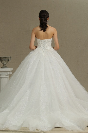 BMbridal Ball Gown Sweetheart Lace Wedding Dress_3