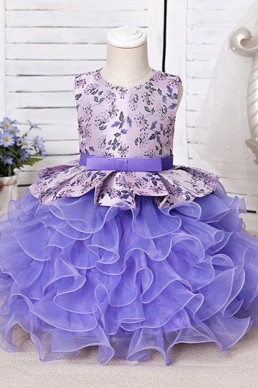 BMbridal Tulle Purple Lovely Flower Girl Dress_5