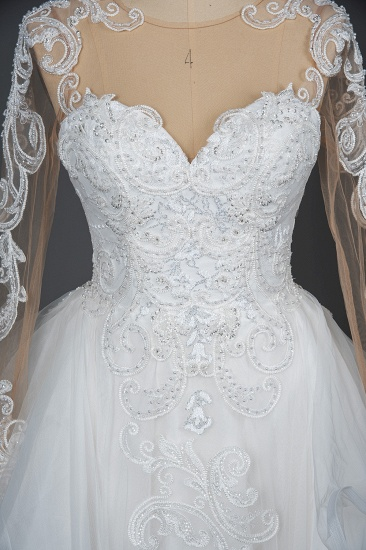 BMbridal Classic Long Sleeve Lace Bridal Gown Online_13