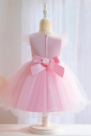BMbridal Lovely Pink Tulle Flower Girl Dress_6