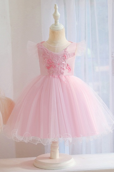 BMbridal Lovely Pink Tulle Flower Girl Dress