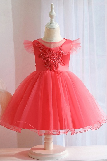 BMbridal Lovely Pink Tulle Flower Girl Dress_3