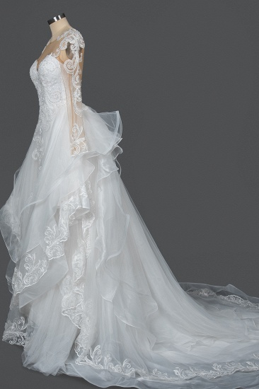 BMbridal Classic Long Sleeve Lace Bridal Gown Online_8