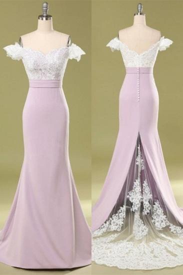BMbridal Glamorous Off-the-Shoulder Mermaid Bridesmaid Dress Lace