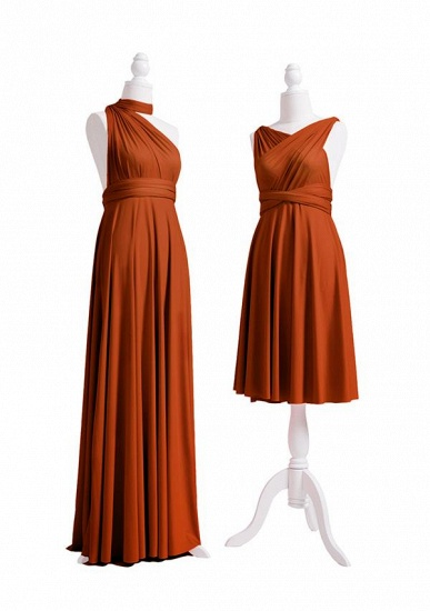 BMbridal Camel Multiway Ruffles Infinity A-Line Bridesmaid Dresses_3