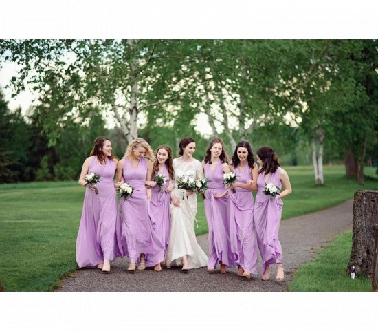BMbridal Sleeveless Light Purple Multiway Infinity Bridesmaid Dress_3
