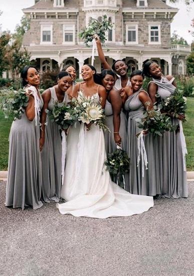 BMbridal Silver Multiple A-Line Bridesmaid Dresses_1