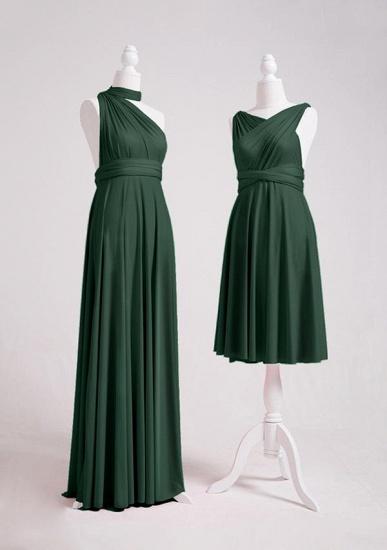 BMbridal Dark Green Multiway Infinity Bridesmaid Dress_3