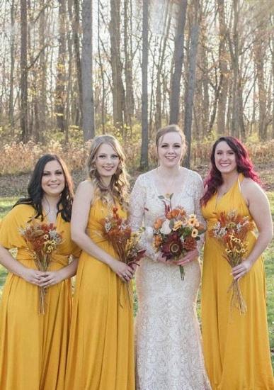 BMbridal Mustard Multiple A-Line Bridesmaid Dresses Long_1