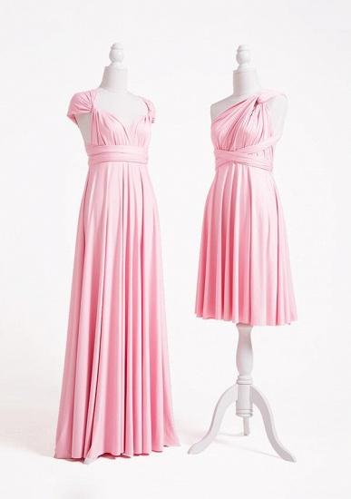 BMbridal Blushing Pink Multiway Ruffles A-Line Bridesmaid Dresses Long_3