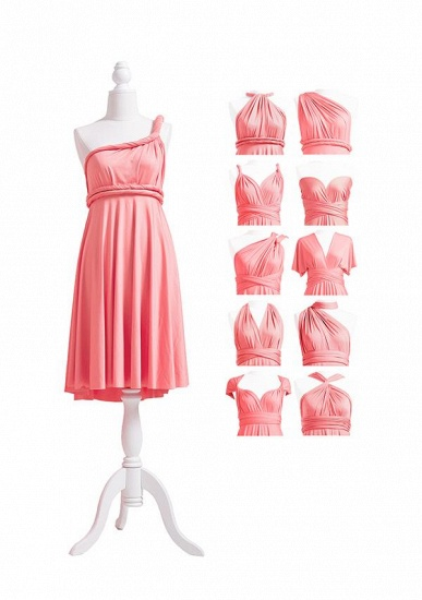 BMbridal Coral Multiway Ruffles Infinity A-Line Bridesmaid Dresses_5