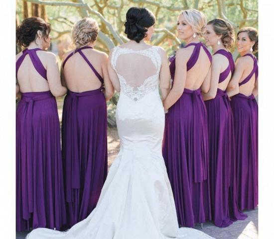 BMbridal Sleeveless Purple Multiway Infinity A-Line Bridesmaid Dress_2