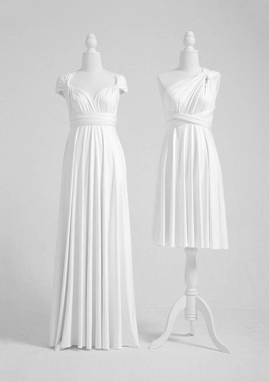 BMbridal White Multiway Infinity Ruffles A-Line Bridesmaid Dresses_2