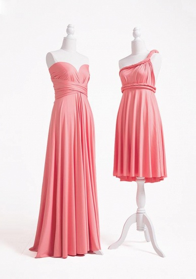 BMbridal Coral Multiway Ruffles Infinity A-Line Bridesmaid Dresses_3