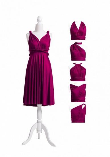 BMbridal Grape Multiway Ruffles Infinity A-Line Bridesmaid Dresses_5