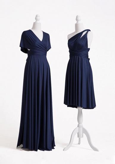 BMbridal Dark Navy Multiway Ruffles Infinity A-Line Bridesmaid Dresses_5