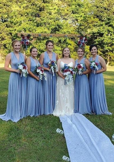 BMbridal Light Blue Multiway Ruffles Infinity A-Line Bridesmaid Dresses_1