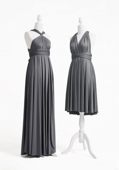 BMbridal Silver Multiple Ruffles A-Line Bridesmaid Dresses_3