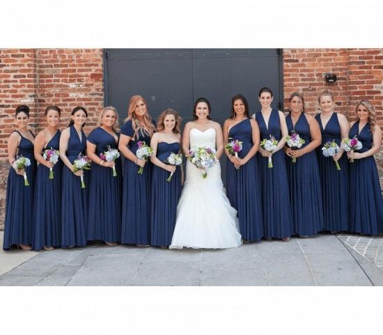 BMbridal Dark Navy Multiway Infinity A-Line Bridesmaid Dress_2