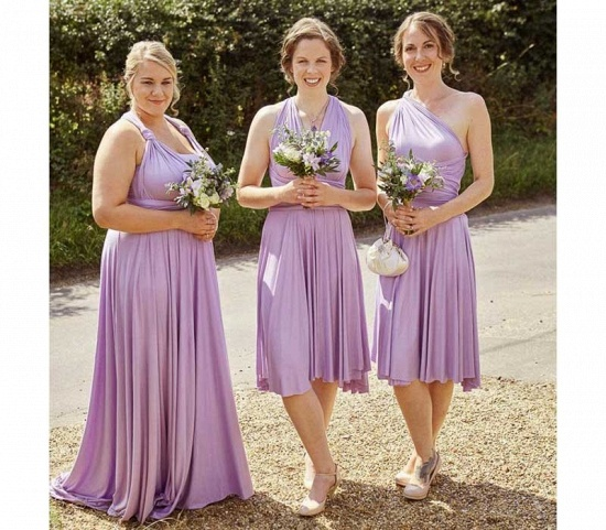 BMbridal Sleeveless Light Purple Multiway Infinity Bridesmaid Dress