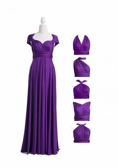 BMbridal Purple Multiple Infinity Bridesmaid Dresses Long_4