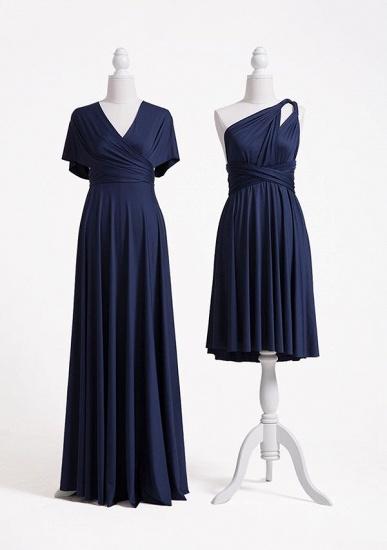 BMbridal Dark Navy Multiway Ruffles Infinity A-Line Bridesmaid Dresses_2