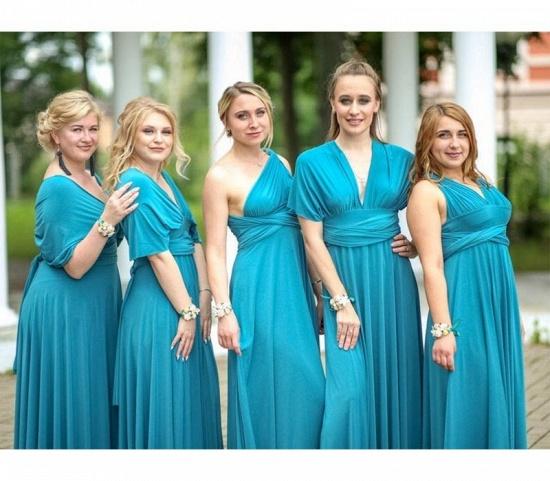 BMbridal Lake Blue Ruffles Multiway Infinity A-Line Bridesmaid Dresses_2