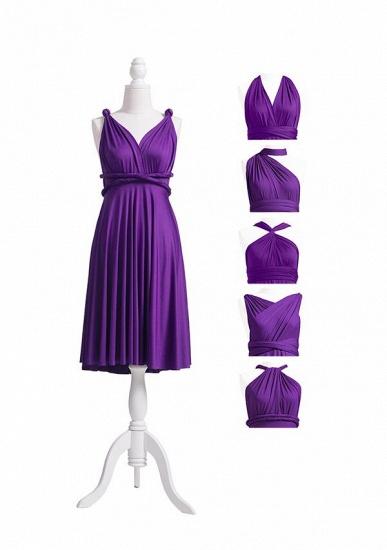 BMbridal Purple Multiple Infinity Bridesmaid Dresses Long_5