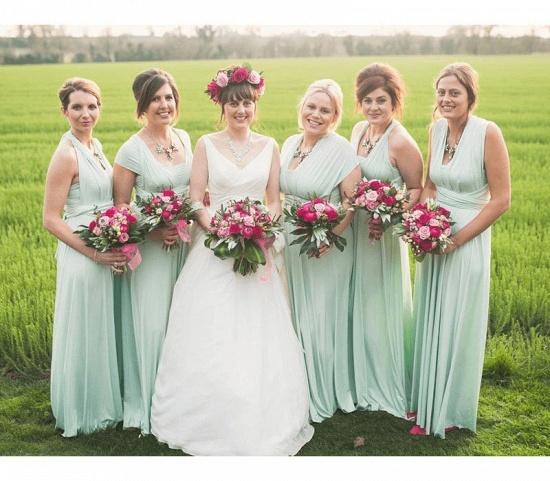 BMbridal Sleeveless Mint Multiway Infinity Bridesmaid Dress_3