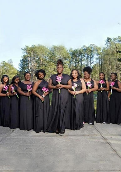 BMbridal Black Multiple A-Line Bridesmaid Dresses_1