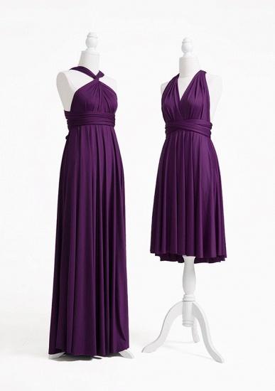 BMbridal Purple Multiple A-Line Bridesmaid Dresses_3