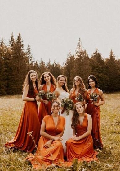 BMbridal Camel Multiway Ruffles Infinity A-Line Bridesmaid Dresses_1