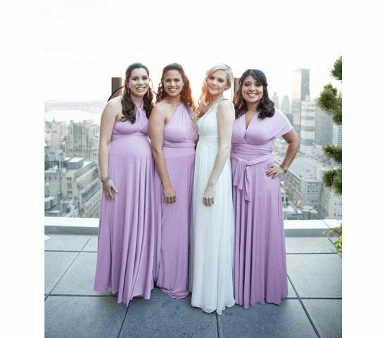 BMbridal Sleeveless Light Purple Multiway Infinity Bridesmaid Dress_2