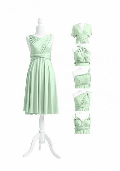 BMbridal Light Green Multiway Ruffles Infinity A-Line Bridesmaid Dresses_5