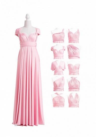 BMbridal Blushing Pink Multiway Ruffles A-Line Bridesmaid Dresses Long_4