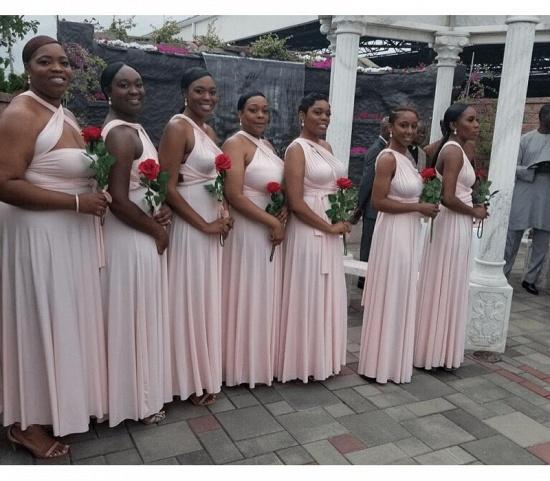 BMbridal Pearl Pink Ruffles Multiway Infinity Bridesmaid Dresses Long_4