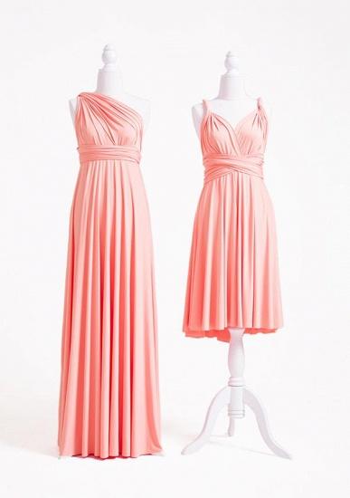BMbridal Coral Multiway Ruffles A-Line Bridesmaid Dresses Long_2