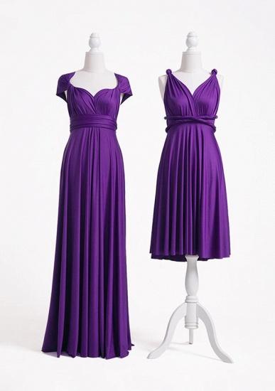 BMbridal Purple Multiple Infinity Bridesmaid Dresses Long_2