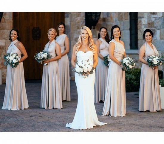 BMbridal Flesh Color Multiway Infinity Ruffles A-Line Bridesmaid Dresses_4