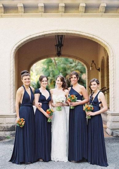 BMbridal Dark Navy Multiway Ruffles Infinity A-Line Bridesmaid Dresses_4