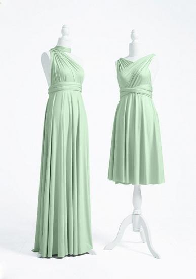 BMbridal Light Green Multiway Ruffles Infinity A-Line Bridesmaid Dresses_3