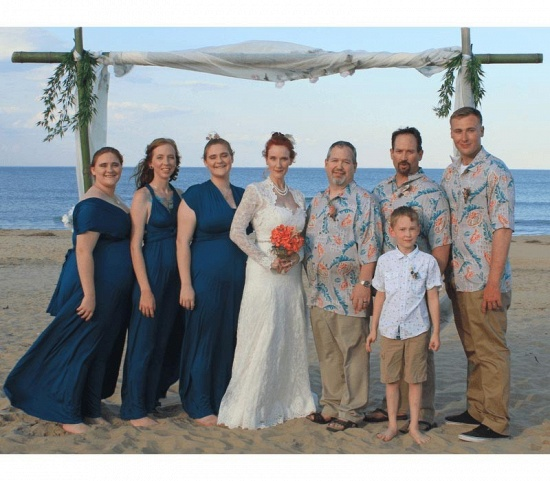 BMbridal Sleeveless Dusty Navy Multiway Infinity Bridesmaid Dress_5