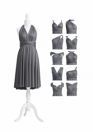 BMbridal Silver Multiple Ruffles A-Line Bridesmaid Dresses_5