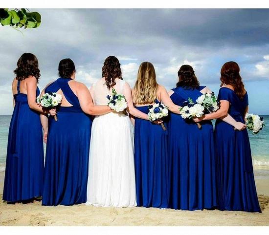 BMbridal Sleeveless Dark Blue Multiway Infinity A-Line Bridesmaid Dress_1