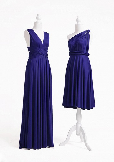 BMbridal Ink Blue Multiway Ruffles Infinity A-Line Bridesmaid Dresses_3